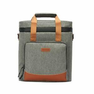 Wine Cooling Bag 100% Leakproof Picnic Vintage Leather Refrigerator Portable New