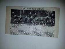 Anacortes & Sequim Washington High School 1930 Football Team Picture