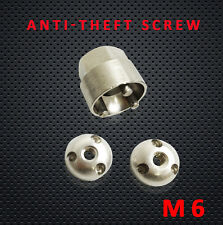 6MM Side Mounting Bracket Anti Theft Security Lock Nut Kit 316 stainless steel