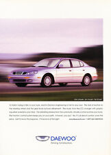 2000 Daewoo Leganza 2-page - Original Car Advertisement Print Ad J158