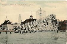 Toboggan at Ontario Beach Park Rochester NY Postcard Amusement Park