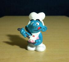 Smurfs Greedy Smurf Birthday Cake Baker Vintage Toy Figure Schleich Peyo 20165