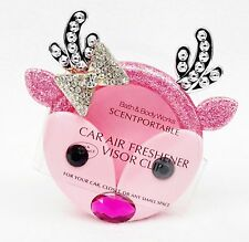 Bath & Body Works Scentportable Holder PINK REINDEER GIRL Unit Car Visor Clip
