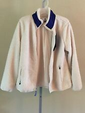 Boy's Old Navy Macadamia Cream, Blue High Pile Shirpa Fleece Zipper Front Jacket