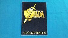 Guide de Textes Zelda: Ocarina Of Time 64 Large Espagnole Nintendo 64 Rare