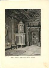 Stampa antica PONTE in VALTELLINA Casa Guicciardi Stufa Sondrio 1934 Old Print