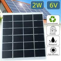 5X 2W 6V Monokristallin Solar Panel Solarmodul Solarzelle Camping Ladegerät