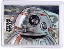 Star Wars: THE LAST JEDI 2018 DAN GORMAN Sketch Card ARTIST PROOF Topps