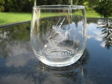 REMY MARTIN FINE CHAMPAGNE COGNAC ROUNDED GLASS FROSTED LETTERING