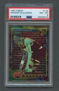 1993 Topps Finest Basketball HAKEEM OLAJUWON #115 PSA 8 NM-MT Rockets