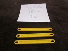 Fischertechnik 3 x I-Streben 75 er gelb Sammlung Konvolut Konstruktion Statik