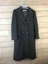 Fairbrooke 2959 Black Wool Double Breasted Long Coat Women's S