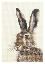 BROWN HARE, Full counted cross stitch kit + all materials *Fido Stitch Studio