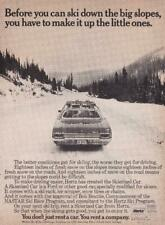 """1970 Hertz Ad/ """"rent Ford Galaxie 500 with ski rack & chains"""""""