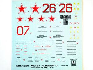 Esci 4020 Vintage Stickers MiG-27 Flagellateur D 1:48 Modélisme