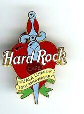 Hard Rock Cafe KUALA LUMPUR 10TH Anniversary Pin. RARE