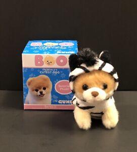 "Gund~Boo The World's Cutest Dog Plush Keyring Series 2~""Zebra Boo"""