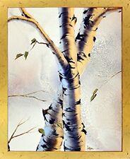 Aspen Forest Birch Trees Nature Wall Decor Framed Picture Art Print (18x22)
