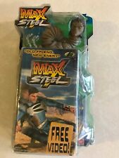 Max Steel Bio-Constrictor Action Figure Mattel 2001 New in Box W/ Free Video