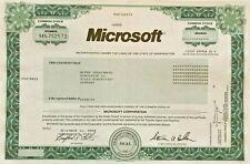 Microsoft 2008 stock certificate