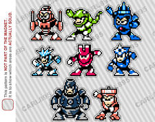 8bit Mega Man 3 Villain Cast Car/Refrigerator Magnets
