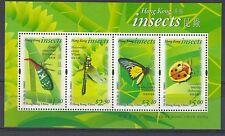 HONG KONG CHINA  2000 Insects  min sheet SGMS1027 MNH