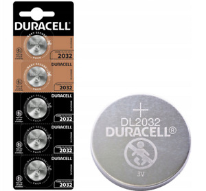 5x Duracell CR2032 3V Lithium Coin Cell Battery 2032 button DL2032. 0102