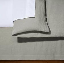 Solid Linen KING Bed Skirt Fieldcrest Cashmere - GRAY