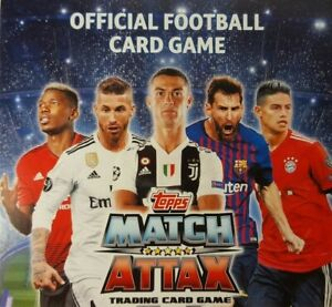 Topps - UEFA Champions League Match Attax 2018/19 TEAM SETS of 18 US Edition