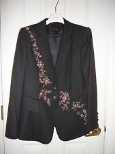 ESCADA 42 46 SUIT  Jacket New Pants brown beaded sequins Germany