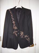ESCADA 42 46 SUIT  Jacket New Pants brown beaded sequins Germany