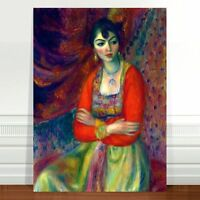 "William Glackens Armenian Girl ~ FINE ART CANVAS PRINT 36x24"""