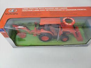 Kubota L6060 Toy Tractor w/ Backhoe Loader 1:18 Scale Model * NEW!