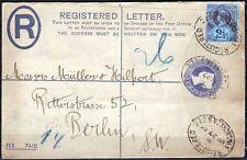 Posta RACCOMANDATA postage REVENUE con aziende PERFORATORE PERFIN 2 1/2 D - 1901 (1)