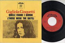 GIGLIOLA CINQUETTI disco EP 45 giri QUELLI ERANO I GIORNI  made in PORTUGAL 1969