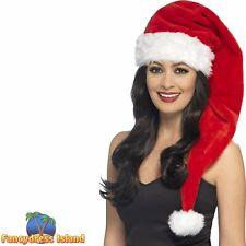 Santa Hat Father Christmas Festive Seasonal Women's Fancy Dress Costume