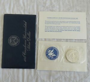 USA 1974 s EISENHOWER UNCIRCULATED SILVER DOLLAR - mint sealed pack