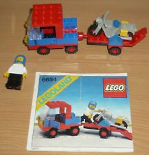 Lego City 6654 Auto + Anhänger + Motorrad v. 1983 + OBA