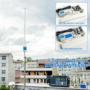Y-200A 100KHz-180MHz Active Loop Antenne Kurzwellenempfang für SDR-Radio