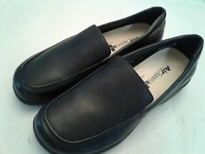 AIR SUPPLY + PLUS SIESTA WOMEN'S BLACK LEATHER FLATS SHOES SIZE 5.5 M LOAFERS