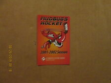 Chl Shreveport Mudbugs Vintage Defunct 2001-2002 Team Logo Pocket Schedule
