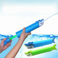 KE_ BU_ Water Gun Outdoor Game Kids Swimming Pool Shark Crocodile Squirter Toy