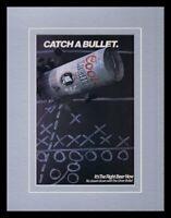 1988 Coors Light Beer / Football Framed 11x14 ORIGINAL Vintage Advertisement