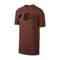 Nike NSW Tee Men's Brown Black White Sportswear Activewear Athletic T-Shirt Top
