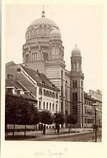 Allemagne,Berlin, la synagogue, vue générale  vintage albumen print, Tirage al