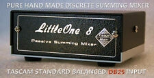 Summing Mixer LittleOne 8x2 DB25 input TRS output studio line DAW mixer