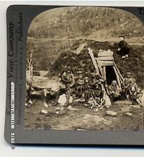 STEREOVIEW OF LAPP HOME AND FAMILY - TROMSOE, NORWAY