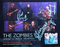 """The Zombies"" Group Signed 10X8 Color Photo JG Autographs COA"