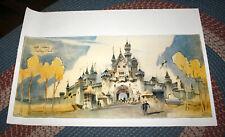 Disneyland Castle Fantasyland Print Original Uncut Herb Ryman Disney Wed Art