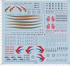 1/200 dragonair tibet airline china eastern star Mdoel Kit Water Slide Decal